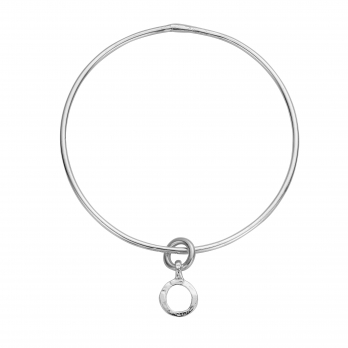 Silver Mini Open Circle Bangle