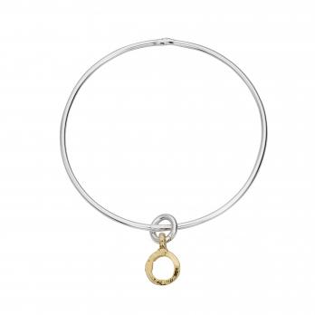 Silver & Gold Mini Open Circle Bangle