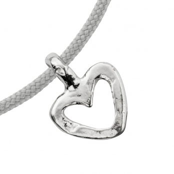 Silver Mini Open Heart Sailing Rope detailed