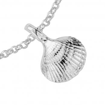 Silver Mini Shell Chain Bracelet detailed