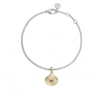 Silver & Gold Mini Shell Chain Bracelet