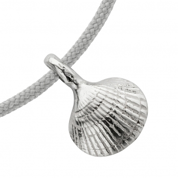 Silver Mini Shell Sailing Rope detailed