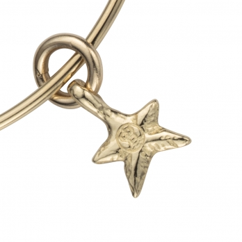 Gold Mini Star Stack Bangle detailed