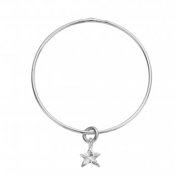 Silver Mini Star Stack Bangle