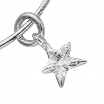 Silver Mini Star Stack Bangle detailed