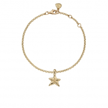 Gold Mini Star Chain Bracelet