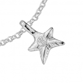 Silver Mini Star Chain Bracelet detailed