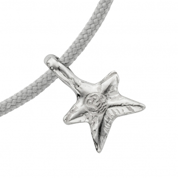 Silver Mini Star Sailing Rope detailed