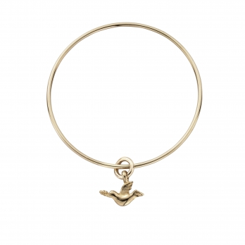Gold Mini Turtle Dove Bangle
