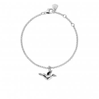 Silver Mini Turtle Dove Chain Bracelet