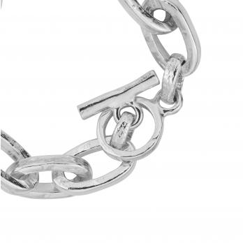 Silver Monaco Bracelet detailed