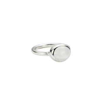 Silver Moonstone Baby Treasure Ring