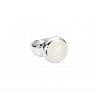 Silver Moonstone Mood Ring