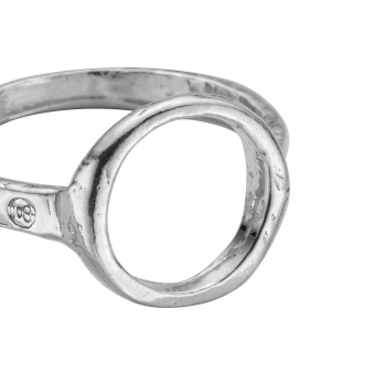 Silver Open Circle Ring detailed