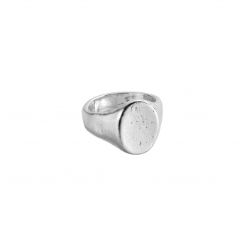 Silver Oval Signet Ring