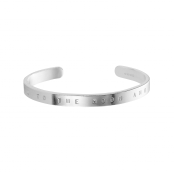Silver Personalised Signature Bangle