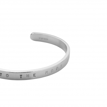 Silver Personalised Signature Bangle detailed