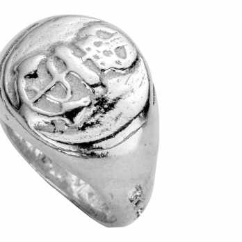 Silver Pirate Ring detailed