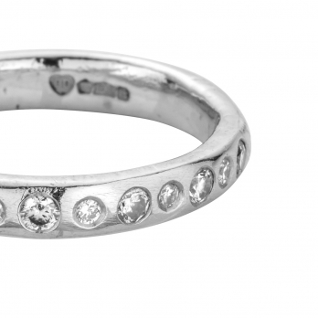 Platinum 13 Diamond Posey Ring detailed