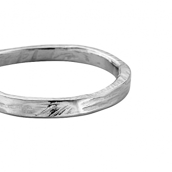 Mens Platinum Mini Posey Ring detailed
