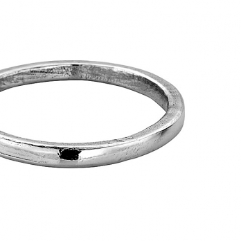 Simple Platinum Wedding Band detailed