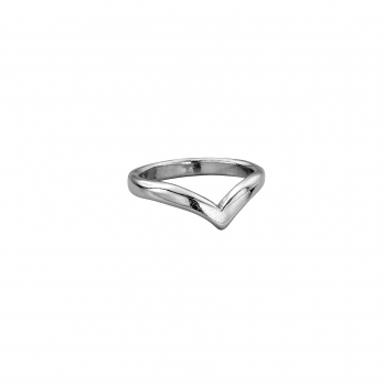 Ladies Platinum Wishbone Wedding Band
