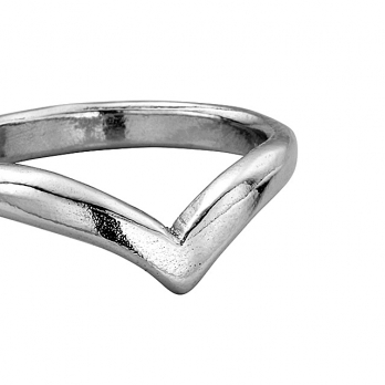 Ladies Platinum Wishbone Wedding Band detailed