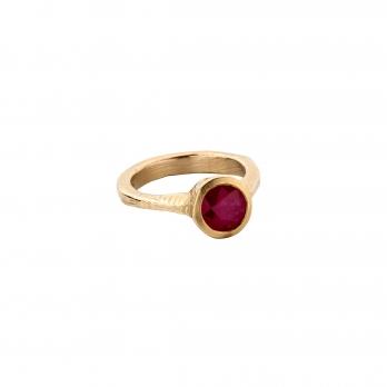 RA Gold Ruby Ring