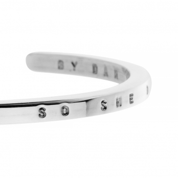 Limited Edition Silver Believe Bangle detailed