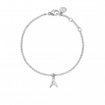 Silver Alphabet Chain Bracelet