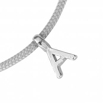 Silver Alphabet Sailing Rope detailed
