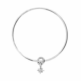 Silver Baby North Star Bangle