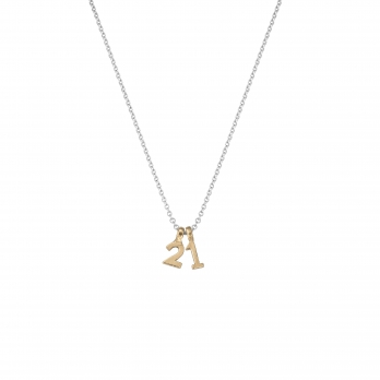 Silver & Gold Alphabet Charm Necklace