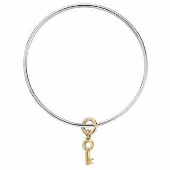Silver & Gold Mini Dreamer's Key Bangle