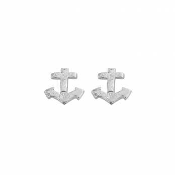 Silver Little Anchor Ear Charm Set