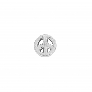 Silver Little Peace Single Ear Charm