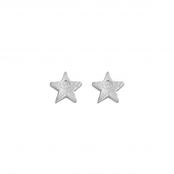 Silver Little Star Ear Charm Set