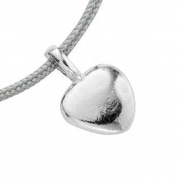Silver Midi Grateful Heart Sailing Rope detailed