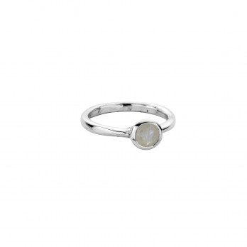 Silver Moonstone Baby Stone Ring