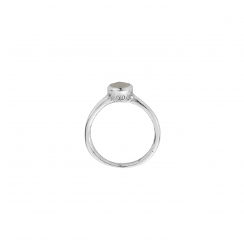 Silver Moonstone Baby Stone Ring detailed