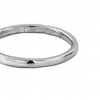Simple Silver Wedding Band detailed