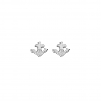 Silver Tiny Anchor Ear Charm Set