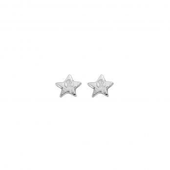 Silver Tiny Star Ear Charm Set