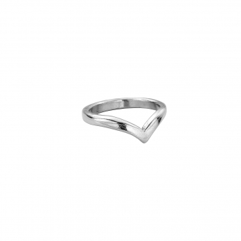 Ladies Silver Wishbone Wedding Band