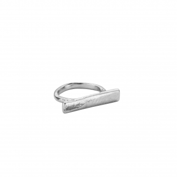 Silver Small Bar Ring