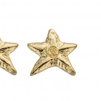 Gold Mini Star Stud Earrings detailed