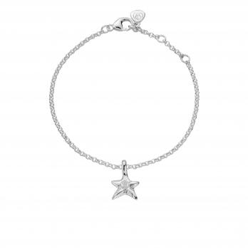 Silver Mini Star Chain Bracelet