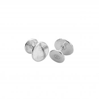 Silver Disc Cufflinks
