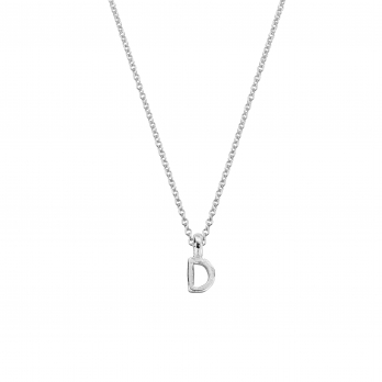Silver Alphabet Charm Necklace