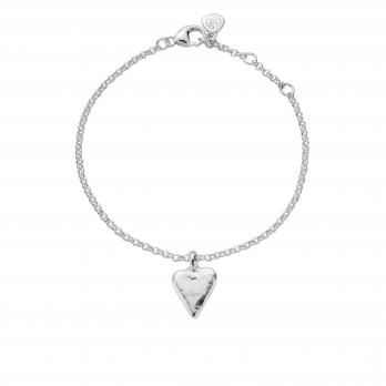 Silver Mini Heart Chain Bracelet